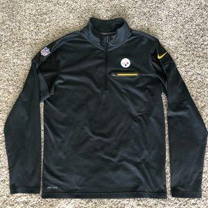 Nike NFL On Field Pittsburgh Steelers zip pullover